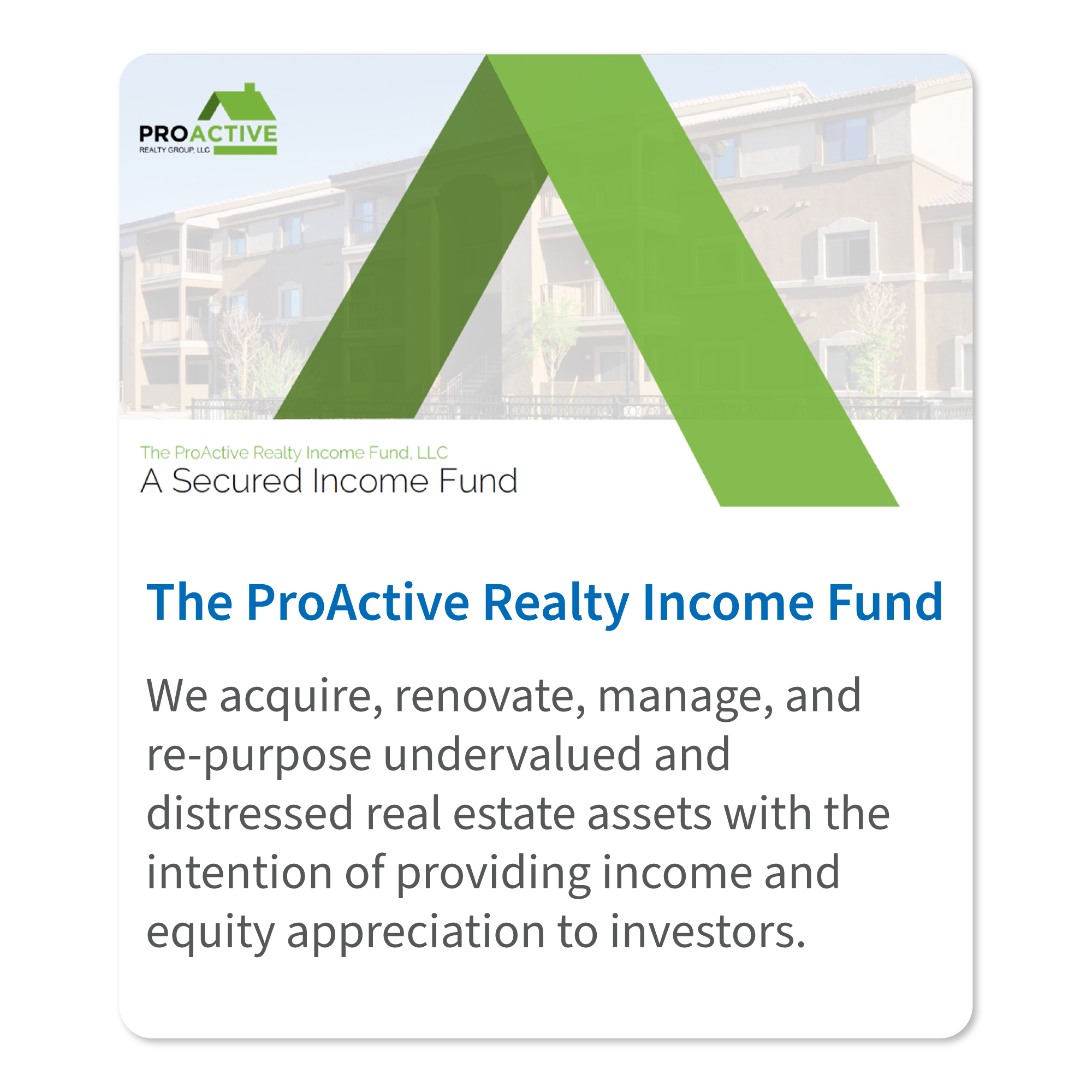 Proactive-Fund Deal Tile